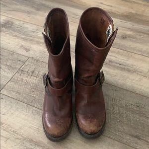 Frye leather half boots, size 7 EUC